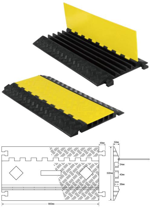 強化型ケーブルプロテクター どこでもケーブルワイド収納タイプ