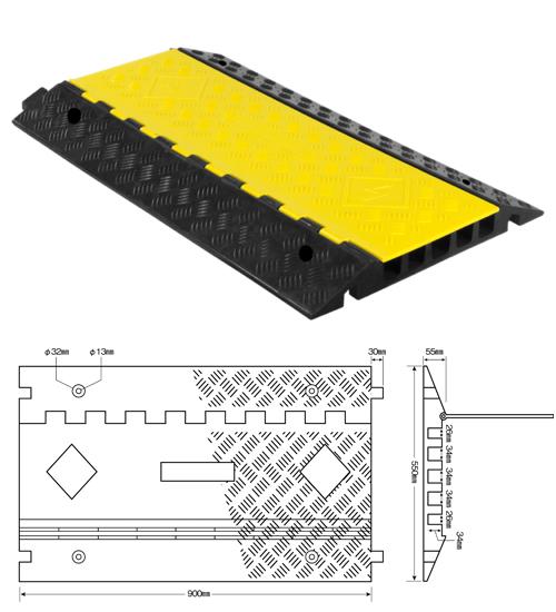 強化型ケーブルプロテクター どこでもケーブル固定タイプ